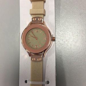 Accessories - Fashion women's watch beige copper new